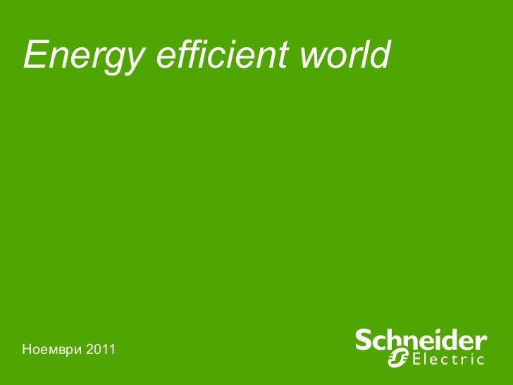 Energy efficient world   Ноември 2011