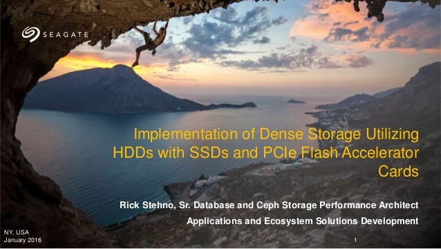 Rick Stehno, Sr. Database and Ceph Storage Performance Architect Applications and Ecosystem Solutions Development Implemen...