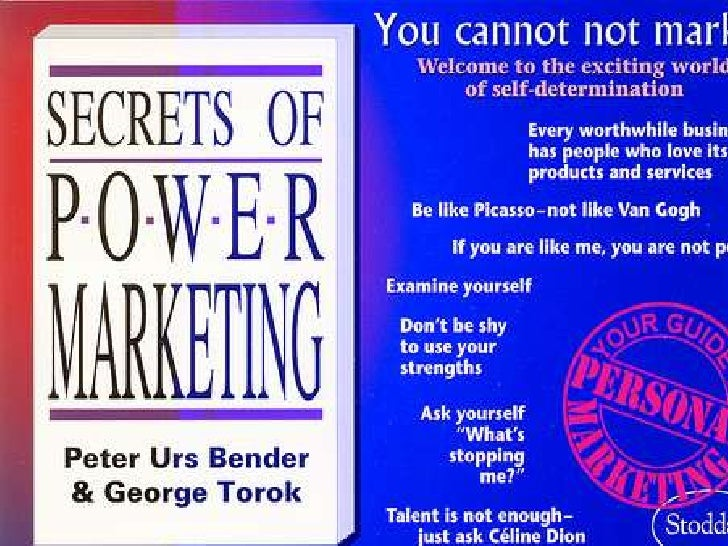 Secrets of Power Marketing                       Promote Brand You!                           The first guide to          ...
