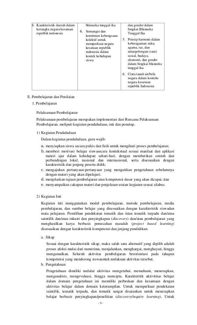 Rpp Sumpah Pemuda Dalam Bingkai Bhinneka Tunggal Ika 02 Silabus Pp Kn Smp 20012017 Ok