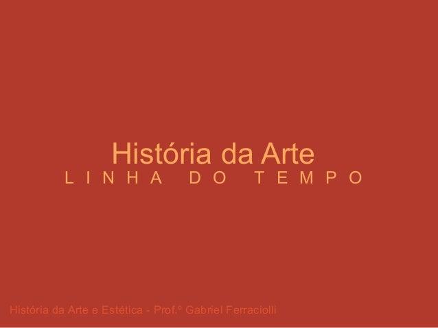 História da Arte e Estética - Prof.º Gabriel Ferraciolli História da Arte L I N H A D O T E M P O