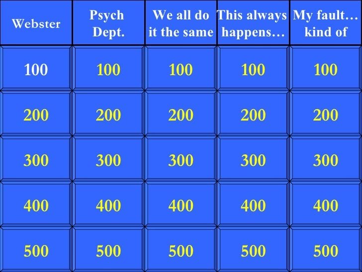 200 300 400 500 100 200 300 400 500 100 200 300 400 500 100 200 300 400 500 100 200 300 400 500 100 Webster Psych  Dept. W...
