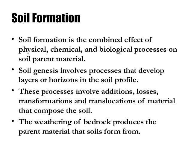 Soil class 8 science for Origin and formation of soil