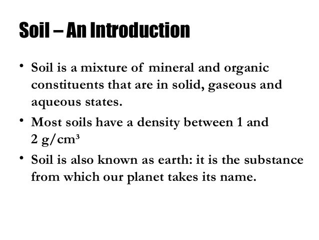Soil class 8 science for Introduction of soil