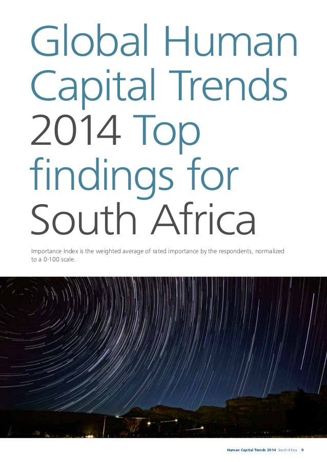 10 The top five trends for South Africa The top five trends for South Africa, in order of the importance index, are: 1. Le...