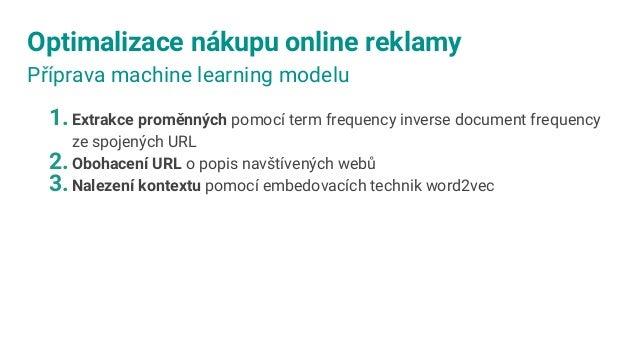 Optimalizace nákupu online reklamy Automatické získání pravidel z historie MACHINE LEARNING MODEL