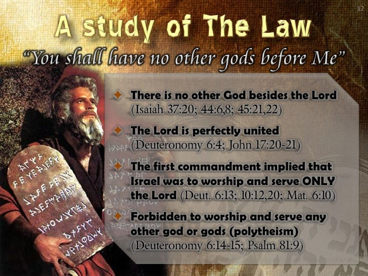 an analysis of ten commandments Answer: for the right understanding of the ten commandments, these rules are to be observed: 1 that the law is perfect, and bindeth everyone to full conformity in the whole man unto the righteousness thereof, and unto entire obedience for ever so as to require the utmost perfection of every 4.