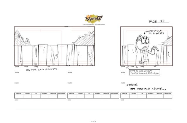 The Mightyb! Storyboard Sample