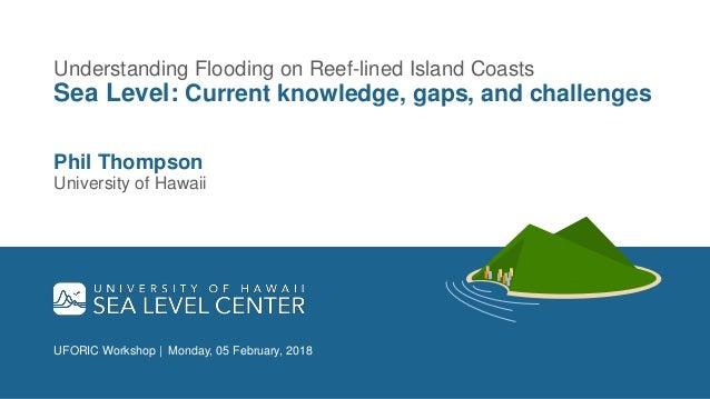 UFORIC Workshop | Monday, 05 February, 2018 Understanding Flooding on Reef-lined Island Coasts Sea Level: Current knowledg...