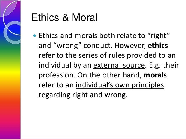 high ethical ideals meaning