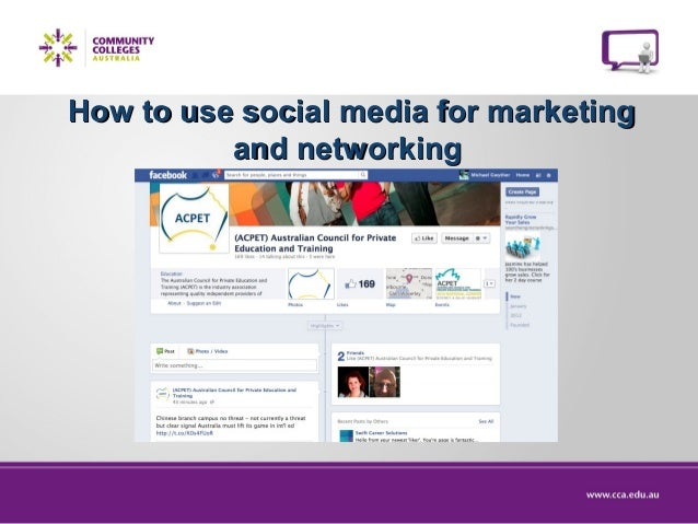 How to use social media for marketing and networking