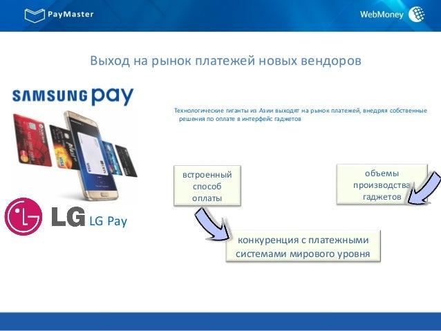 Выход на рынок платежей новых вендоров LG Pay Технологические гиганты из Азии выходят на рынок платежей, внедряя собственн...