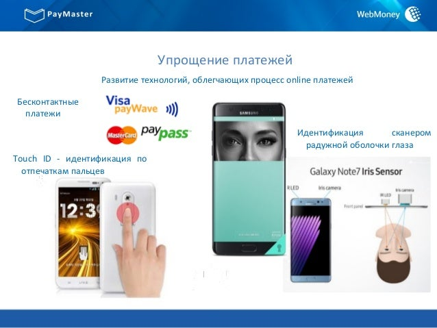 Упрощение платежей Развитие технологий, облегчающих процесс online платежей Touch ID - идентификация по отпечаткам пальцев...