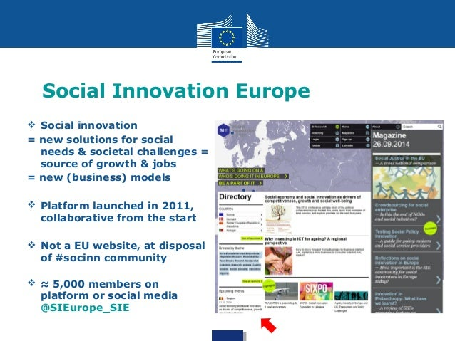 Social Innovation - What the Commission does about it Slide 2
