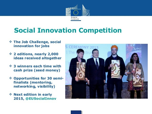 Social Innovation - What the Commission does about it Slide 3