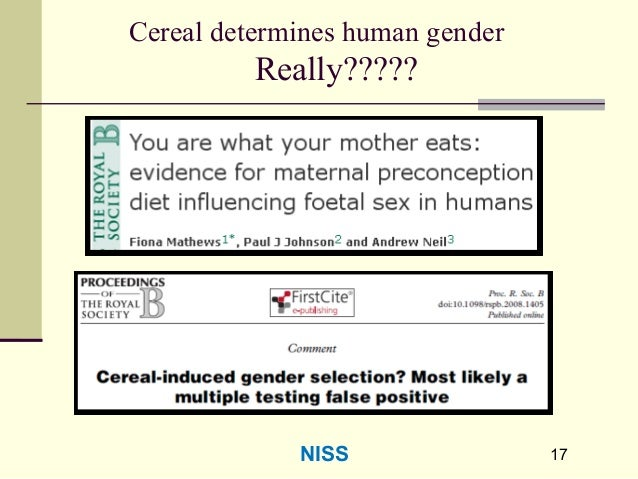 17 Cereal determines human gender Really????? 17NISS