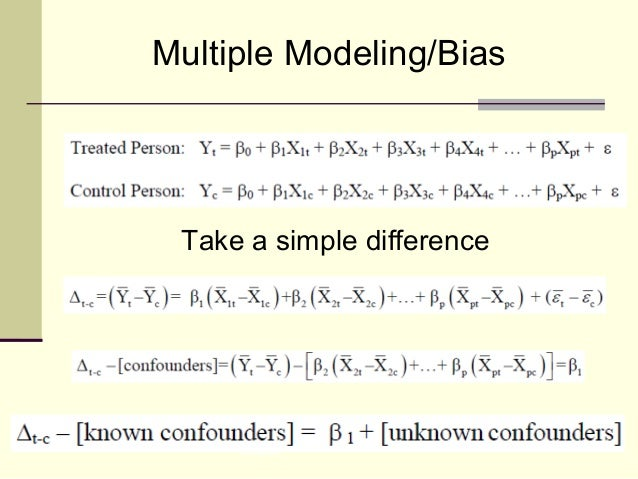 NISS Multiple Modeling/Bias Take a simple difference