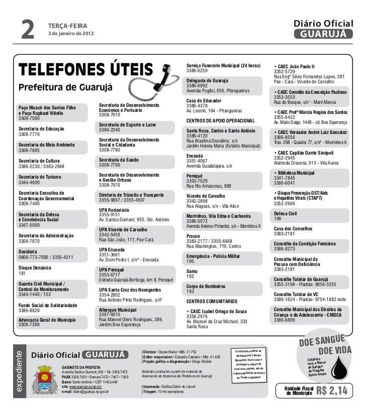 Diário Oficial de Guarujá - 03-01-12 Slide 2