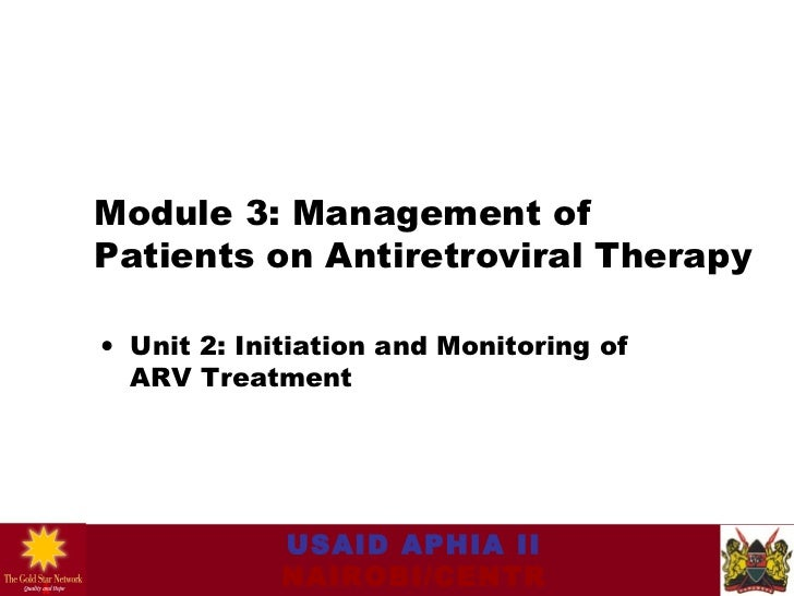 03.02 management of patients on antiretroviral drugs initiat