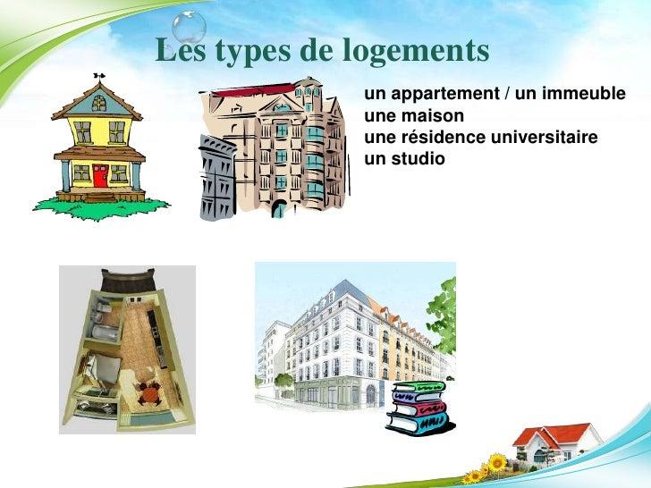 La description des logements for Type d habitation en france