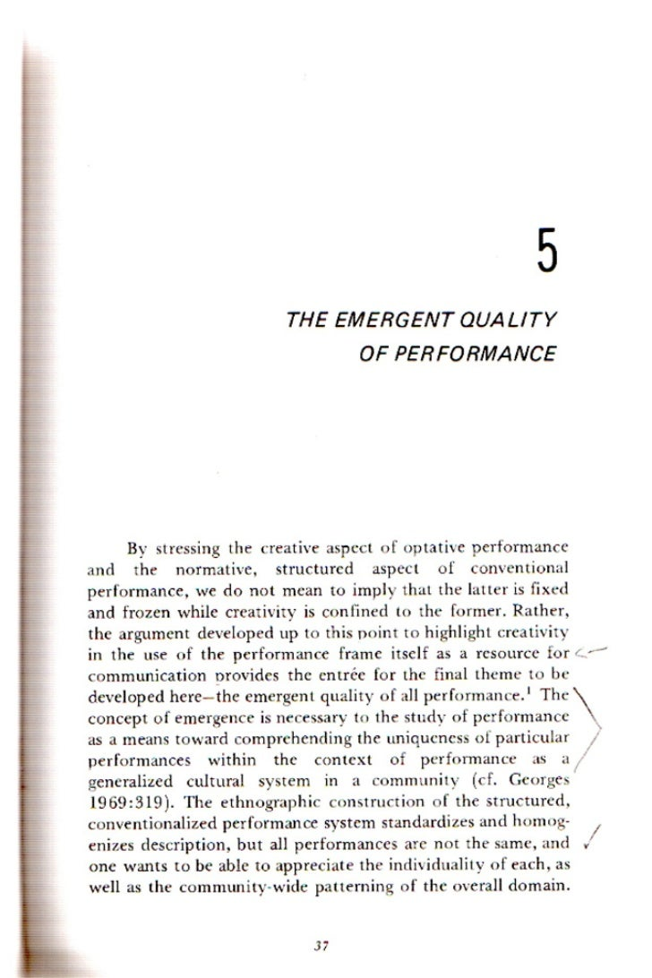 the emergent quality of performance