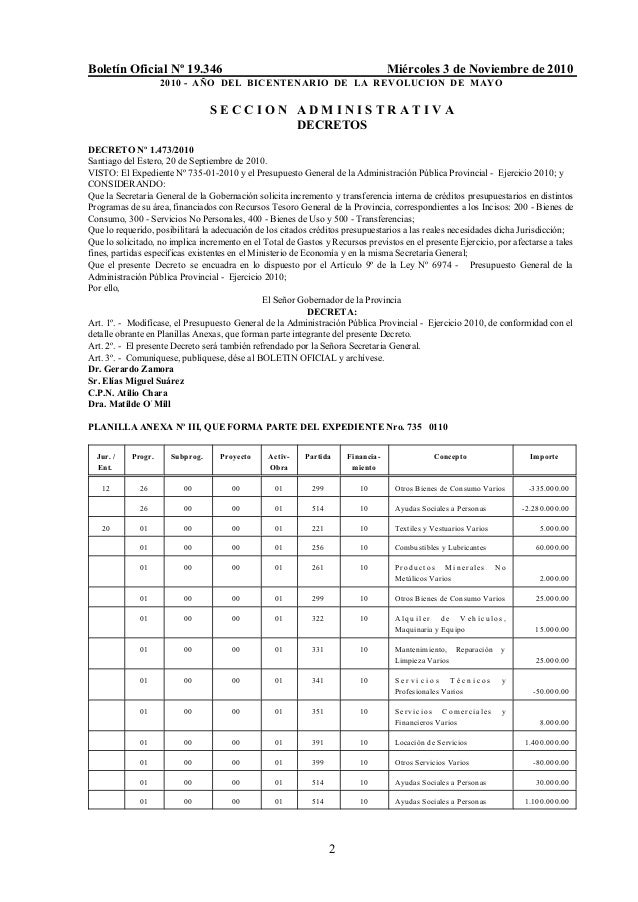 Boletín Oficial Nº 19.346 Miércoles 3 de Noviembre de 2010 2010 - AÑO DEL BICENTENARIO DE LA REVOLUCION DE MAYO 2 S E C C ...