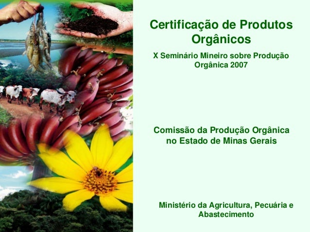 Certificação de Produtos        OrgânicosX Seminário Mineiro sobre Produção          Orgânica 2007Comissão da Produção Org...
