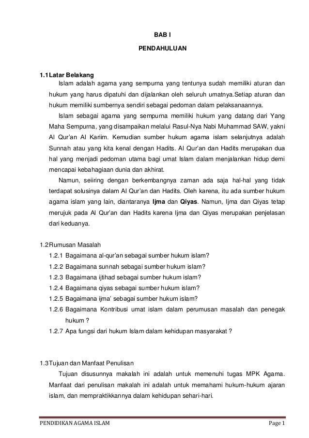 Doc Makalah Sumber Hukum Islam Revi Hardiansyah Academia Edu