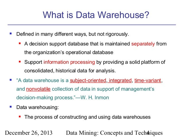 Data warehouse definition