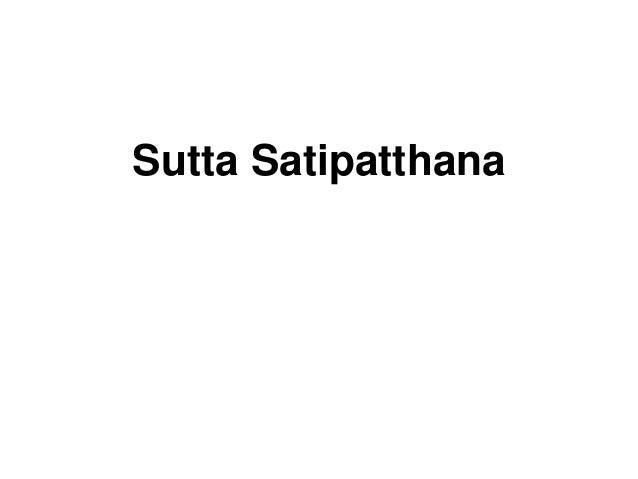 Sutta Satipatthana
