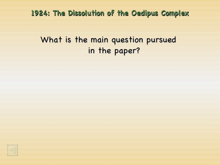 The dissolution of the oedipus complex pdf