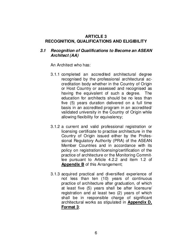 6. 6 ARTICLE 3 RECOGNITION, QUALIFICATIONS ...