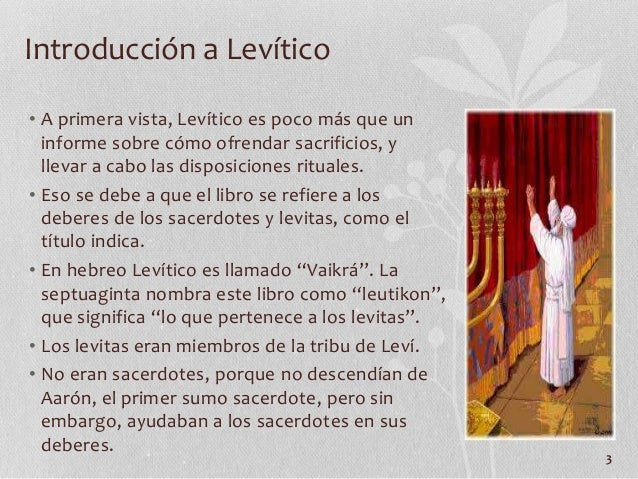 El libro de Levitico - Jeronimo Perles