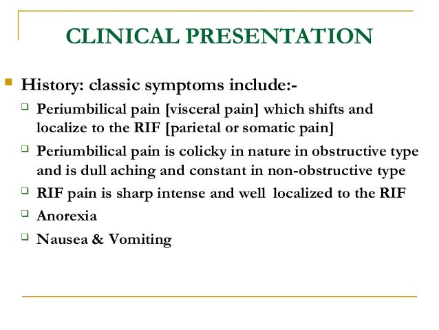 A case presentation on acute appendicitis in the young ppt download.
