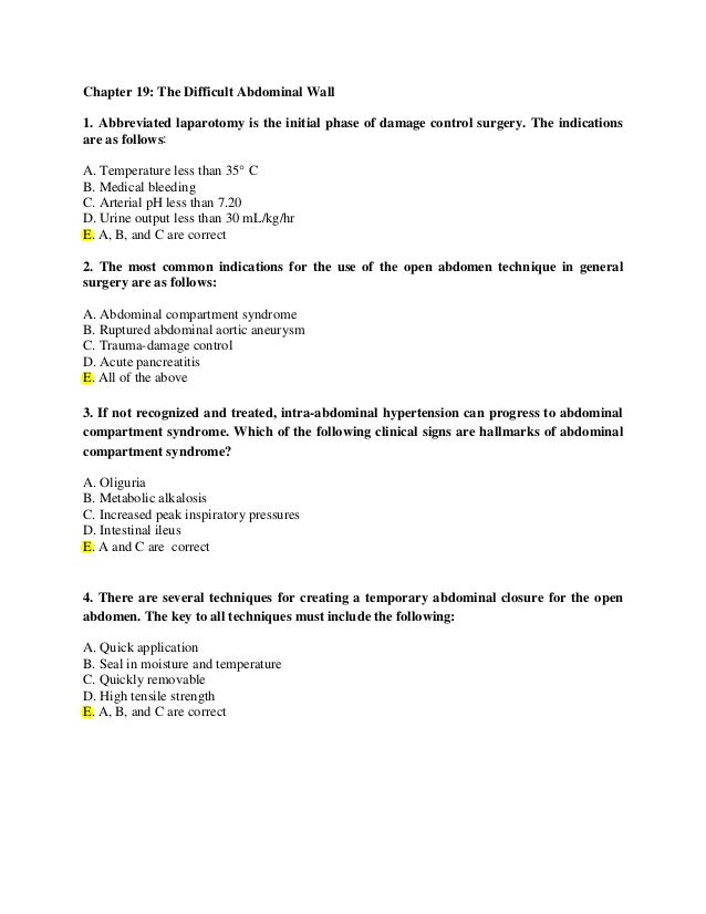 03biston Surgery Questions 17th Ed