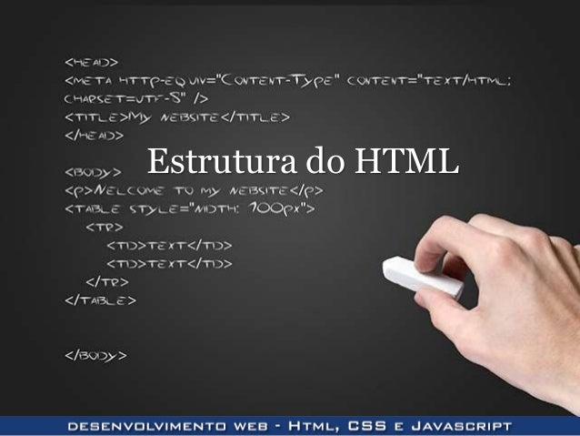 Estrutura do HTML