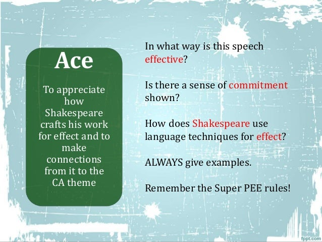 language techniques used in act 1 scene 5 of romeo and juliet Summary romeo and his fellow attendees arrive at the capulet feast the guests  are greeted by  summary and analysis act i: scene 5 bookmark this page.