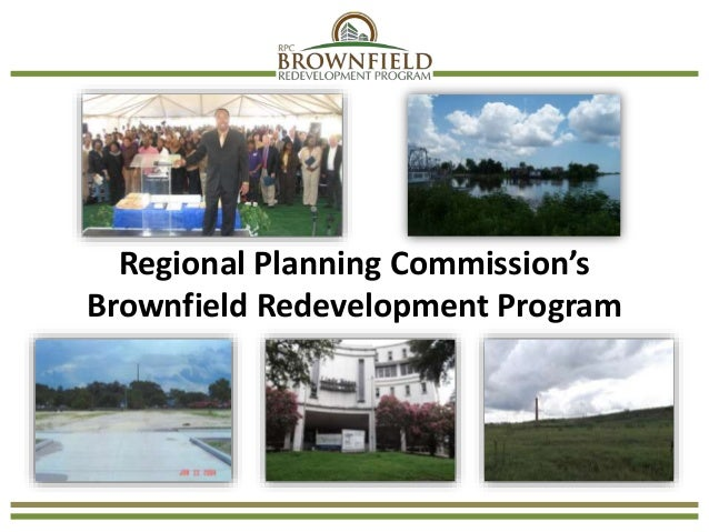 Regional Planning Commission's Brownfield Redevelopment Program