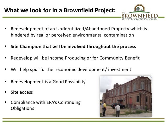 brownfield project Analysis of brownfields cleanup alternatives (abca) for remediation of soil,  groundwater and building-related contamination during building demolition pdf.