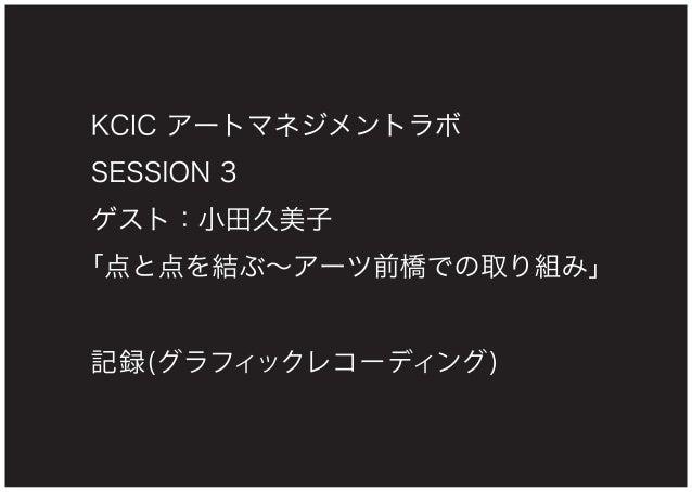 KCIC アートマネジメントラボ SESSION 3 記録(グラフィックレコーディング)