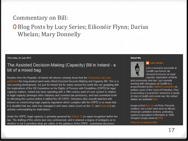 Commentary on Bill: 0 Blog Posts by Lucy Series; Eilionóir Flynn; Darius Whelan; Mary Donnelly 17