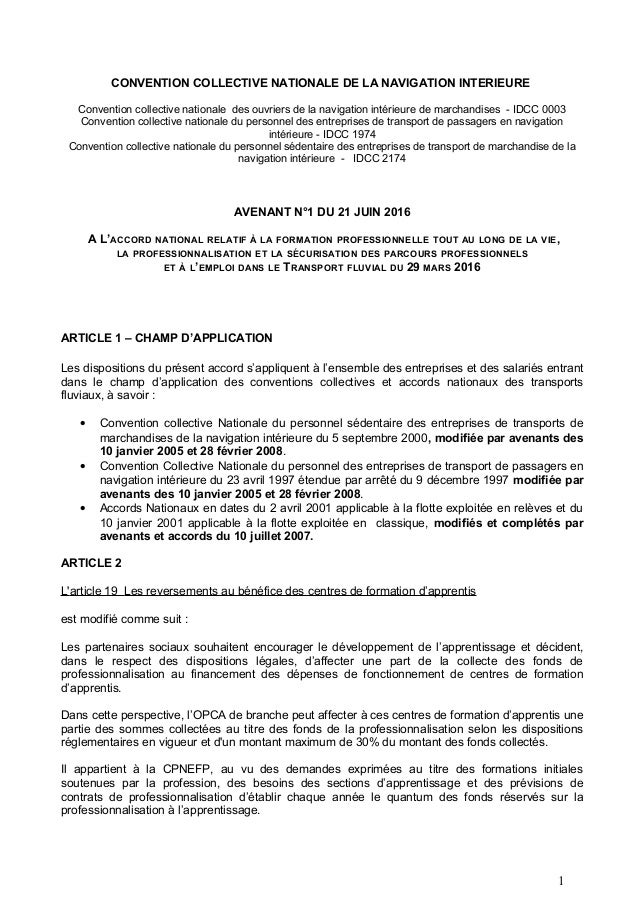 03 1974 2174 Avenant N1 21 Juin 2016 A L Accord Formation Du 29 Mars