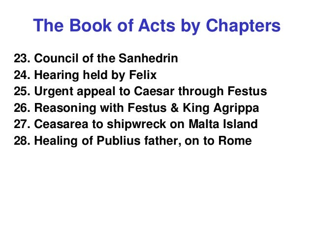 the book of acts by chapters