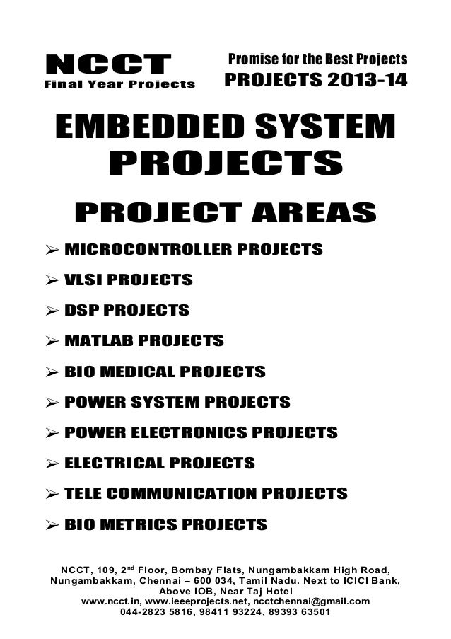 embedded systems projects list pdf