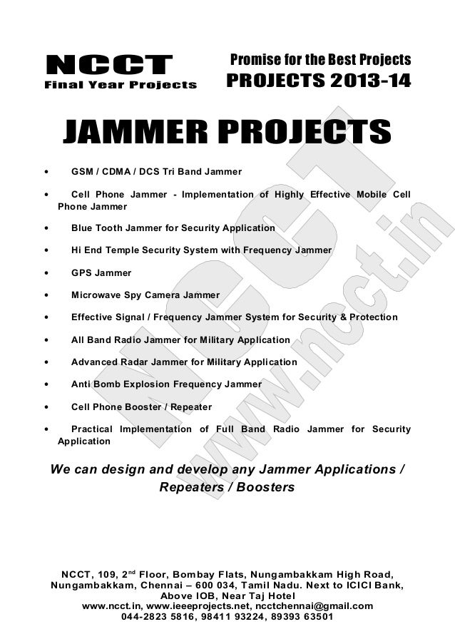 Blue tooth jammer | make a cell jammer