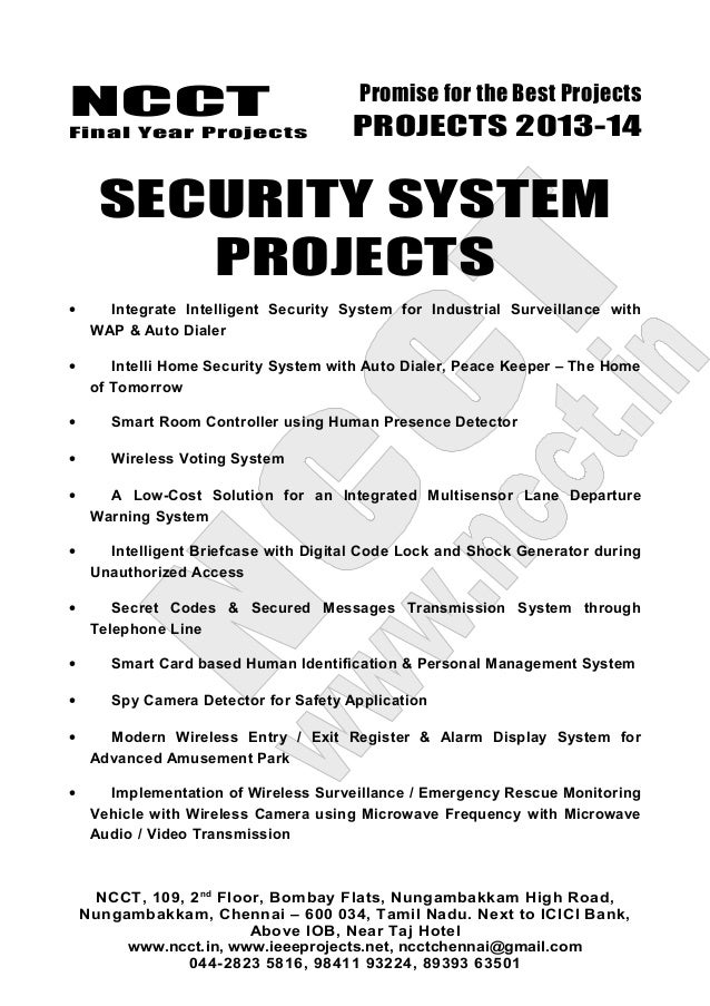Home security system final year project