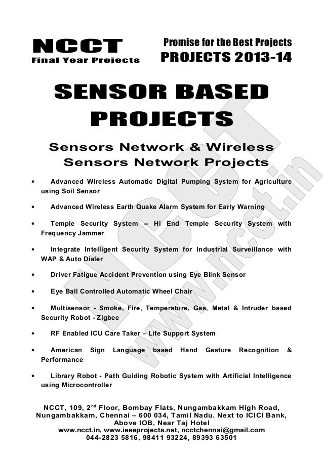 03 2013 14 Embedded Systems Project List Non Ieee Based