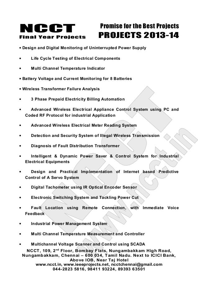 03 2013-14 embedded systems project list - non ieee based ...