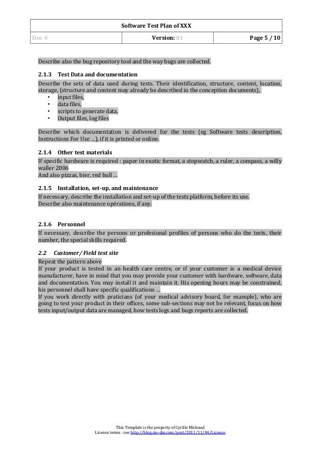 03 software test plan template