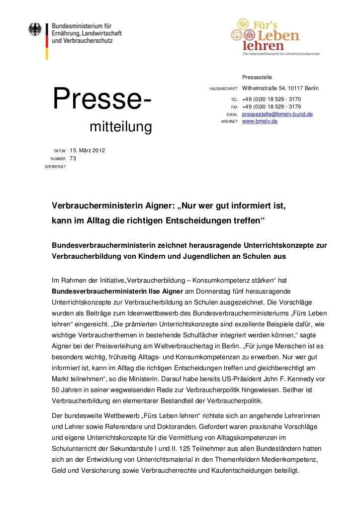 Pressestelle   Presse-                                                         HAUSANSCHRIFT   Wilhelmstraße 54, 10117 Ber...